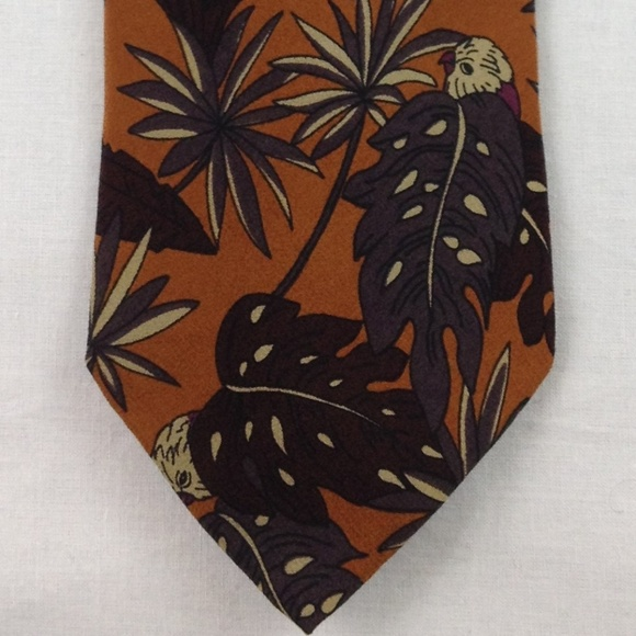 b2720fa11548 Versace Accessories | Gianni Brown Multicolor Silk Tie 58x35 | Poshmark